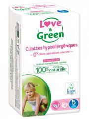 Love & Green Culottes Hypoallergéniques 18 Culottes Taille 5 (12-18 kg) - Sachet 18 culottes