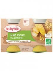 Babybio Maïs Doux 6 Mois et + Bio 2 Pots de 130 g - Carton 2 pots de 130 g