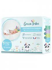 Green Tribu Couches Écologiques 30 Couches Taille 1 (2-5 kg) - Sachet 30 Couches
