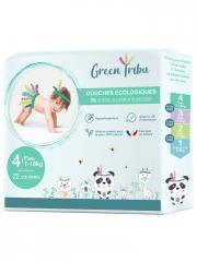 Green Tribu Couches Ecologiques 22 Couches Taille 4 (7-18 kg) - Sachet 22 Couches