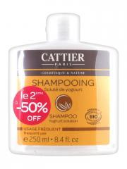Cattier Shampoing Usage Fréquent Soluté de Yogourt Lot de 2 x 250 ml - Lot 2 x 250 ml