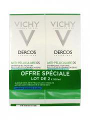 Vichy Dercos Shampoing Traitant Anti-Pelliculaire Cheveux Normaux à Gras Lot de 2 x 200 ml - Lot 2 x 200 ml