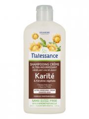Natessance Shampoing Crème Karité et Kératine Végétale 250 ml - Flacon 250 ml