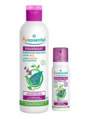 Puressentiel Anti-Poux Shampooing Quotidien PouxDoux Bio 200 ml & Spray Répulsif Poux 75 ml Offre Spéciale - Lot 1 shampooing 200 ml + 1 spray répulsif 75 ml