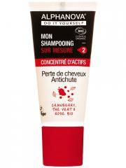 Alphanova DIY Mon Shampooing Sur Mesure Concentré d'Actifs Perte de Cheveux Anti-Chute Bio 20 ml - Tube 20 ml