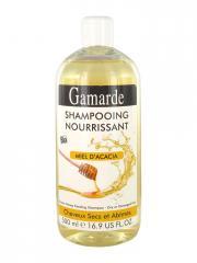 Gamarde Shampoing Nourrissant Miel d'Acacia Cheveux Secs et Abîmés Bio 500 ml - Flacon 500 ml