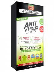 Cinq sur Cinq Natura Anti-Poux et Lentes Kit de Traitement de l'Environnement - Boîte 1 additif lessive + 1 spray environnement