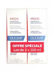 Ducray Argéal Shampoing Sébo-Absorbant Lot de 2 x 200 ml - Lot 2 X 200 ml