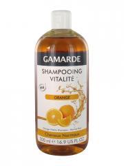 Gamarde Shampoing Vitalité Orange Cheveux Normaux Bio 500 ml - Flacon 500 ml