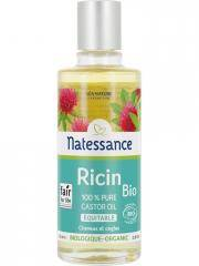 Natessance Huile de Ricin Bio 100 ml - Flacon 100 ml