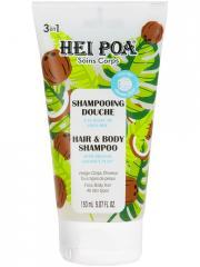 Hei Poa Shampoing Douche 3en1 à la Pulpe de Coco 150 ml - Tube 150 ml