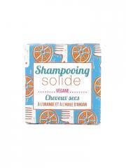 Lamazuna Shampoing Solide Cheveux Secs Orange Huile d'Argan 55 g - Boîte 1 pain de 55 g
