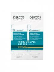 Vichy Dercos Ultra Apaisant Shampoing pour Cheveux Secs Lot de 2 x 200 ml - Lot 2 x 200 ml