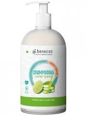 Benecos Shampoing Citron Vert et Aloe Vera 950 ml - Flacon-Pompe 950 ml