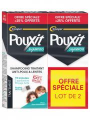 Pouxit Shampoing Traitant Anti-Poux & Lentes Lot de 2 x 250 ml - Lot 2 x 250 ml + 2 peignes