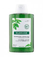 Klorane Shampoing à l'Ortie Bio - Séborégulateur Cheveux Gras 200 ml - Flacon 200 ml