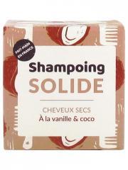 Lamazuna Shampoing Solide Cheveux Secs Vanille Coco 55 ml - Pain 55 ml