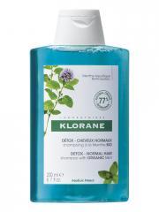 Klorane Détox - Cheveux Normaux Shampoing à la Menthe Bio 200 ml - Flacon 200 ml