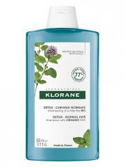 Klorane Détox - Cheveux Normaux Shampoing à la Menthe Bio 400 ml - Flacon 400 ml