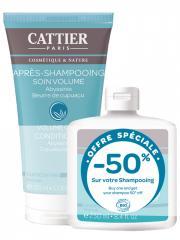 Cattier Après-Shampoing Cheveux Fins Soin Volume Bio 150 ml + Shampoing Cheveux Fins Volume Bio 250 ml - Lot 2 produits