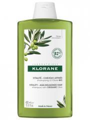 Klorane Vitalité - Cheveux Affinés Shampoing à l'Olivier Bio 400 ml - Flacon 400 ml
