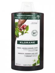 Klorane Force - Cheveux Fatigués & Chute Shampoing à la Quinine et Edelweiss Bio 400 ml - Flacon 400 ml