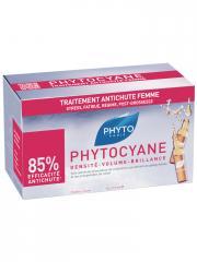 Phyto Phytocyane Soin Anti-Chute Stimulateur de Croissance Femme 12 x 7.5 ml - Boîte 12 ampoules de 7,5 ml