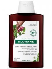 Klorane Force - Cheveux Fatigués & Chute Shampoing à la Quinine et Edelweiss Bio 100 ml - Flacon 100 ml