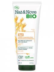 Nat&Nove Bio Nat&Nove; Bio 2en1 Après-Shampoing Masque Nourrissant Avoine 200 ml - Flacon 200 ml