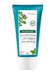 Klorane Détox - Cheveux Normaux Après-Shampoing à la Menthe Bio 150 ml - Tube 150 ml