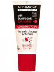 Alphanova DIY Mon Shampoing Sur Mesure Concentré d'Actifs Perte de Cheveux Anti-Chute Bio 20 ml - Tube 20 ml