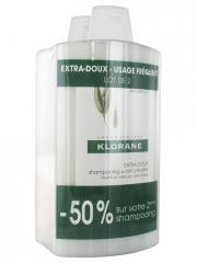 Klorane Shampoing Extra-Doux au Lait d'Avoine Lot de 2 x 400 ml - Lot 2 x 400 ml