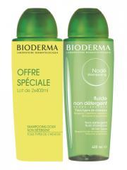 Bioderma Nodé Shampoing Fluide Non Détergent Lot de 2 x 400 ml - Lot 2 x 400 ml