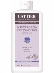 Cattier Shampoing Usage Quotidien Extra-Doux Lait d'Avoine Bio 1 L - Flacon 1 L