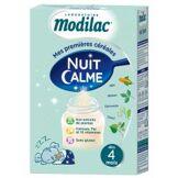 Modilac Nuit Calme Sans Gluten de 4 Mois à 3 Ans 300 g - Boîte 300 g