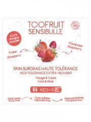 Toofruit Sensibulle Pain Dermatologique Surgras Haute Tolérance Framboise Fraise 85 g - Boîte 1 pain de 85 g
