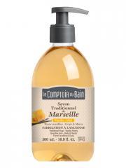 Le Comptoir du Bain Savon Traditionnel de Marseille Vanille-Miel 500 ml - Flacon-Pompe 500 ml