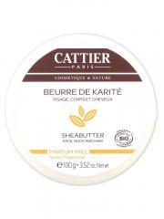 Cattier Beurre de Karité Parfum Miel 100 g - Pot 100 g
