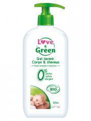 Love & Green Gel Lavant Corps & Cheveux Bio 500 ml - Flacon-Pompe 500 ml