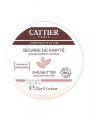 Cattier Beurre de Karité 100% Bio 20 g - Pot 20 g