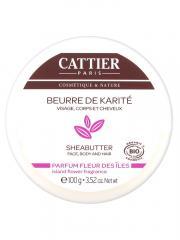 Cattier Beurre de Karité Parfum Fleur des Îles 100 g - Pot 100 g