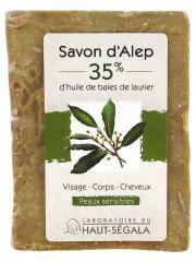 Laboratoire du Haut-Ségala Savon d'Alep 35% Baies de Laurier 200 g - Pain 200 g