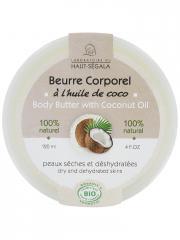 Laboratoire du Haut-Ségala Beurre Corporel à l'Huile de Coco Bio 120 ml - Pot 120 ml