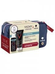 Vichy Homme Kit Essentiel + Trousse FAGUO Offerte - 1 trousse tissu 2 produits