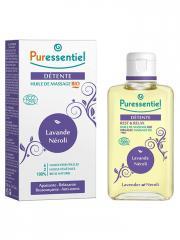 Puressentiel Détente : Huile de Massage Bio 100 ml - Flacon 100 ml