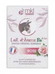 MKL Green Nature Lait d'Ânesse Bio du Gers Savon Végétal Surgras Rose 100 g - Boîte 100 g