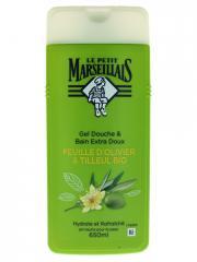 Le Petit Marseillais Gel Douche & Bain Extra Doux Feuille d'Olivier & Tilleul Bio 650 ml - Flacon 650 ml