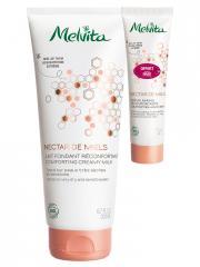Melvita Nectar de Miels Lait Fondant Réconfortant Bio 200 ml + Crème Mains Réconfortante Bio 30 ml Offerte - Lot 2 produits
