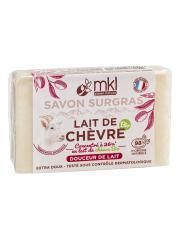 MKL Green Nature Lait de Chèvre Bio Savon Surgras Douceur de Lait 100 g - Pain 100 g