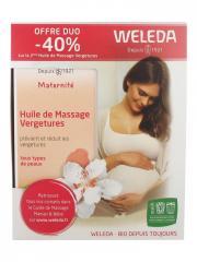 Weleda Maternité Huile de Massage Vergetures Lot de 2 x 100 ml - Coffret 2 x 100 ml